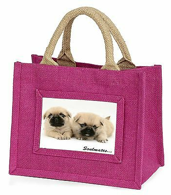 Pugzu Puppy Dogs 'Soulmates' Little Girls Small Pink Shopping Bag Ch, SOUL-42BMP