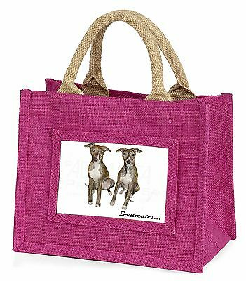 Whippet Dogs 'Soulmates' Little Girls Small Pink Shopping Bag Christ, SOUL-65BMP