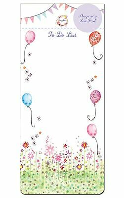Daisy Patch Flowers & Balloons Magnetic To Do List Pad / Shopping List Pad