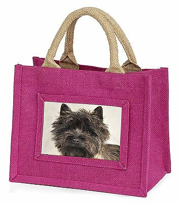 Brindle Cairn Terrier Dog Little Girls Small Pink Shopping Bag Christ, AT-CT2BMP