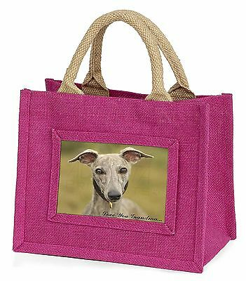 Whippet Dog 'Love You Grandma' Little Girls Small Pink Shopping B, AD-WH92lygBMP