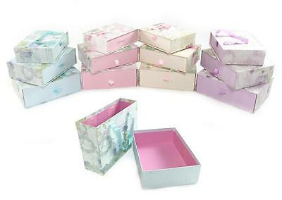 Decorative Floral Hard Cardboard Storage Xmas Birthday Gift Box + Carry Handle