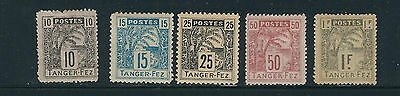 MOROCCO 1890s TANGER to FEZ LOCAL POST (5 values to 1F) F/VF MH