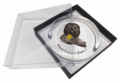 Personalised Tibetan Terrier Glass Paperweight in Gift Box Christma, AD-TT2DA2PW