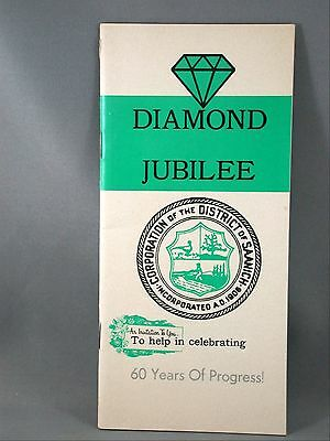District of Saanich Vancouver Island BC 1966 Diamond Jubilee Statistics