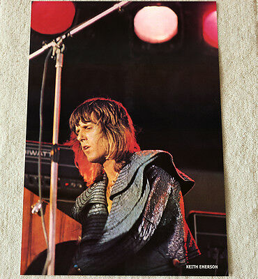 Emerson Lake and Palmer poster Keith Emerson poster On Stage '72 Live Mega RaRe!