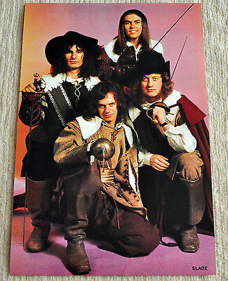 Slade poster Musketeers Photosession '74 period Poster RaRe
