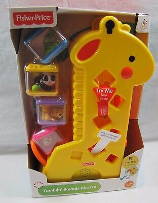 New! Fisher Price PEEK-A-BLOCKS TUMBLIN' SOUNDS GIRAFFE 6-36 Months Baby Toy