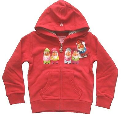 LOVE THERAPY Kinder Sweatjacke mit Kapuze FOUR DWARF FLEECE Gr. 4 in rot