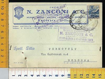 46737] Macerata - Commerciale Forniture Automobilistiche Zanconi _ 1950