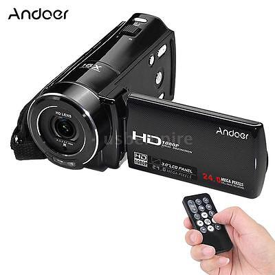 "ORDRO FULL HD 1080P 24MP 16X ZOOM 3"" Digital Video Camera DV Camcorder Recorder"