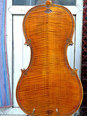 Best Cello 4/4 Size full Hand made antique old style handcarved very nice sound