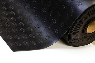Paw Print - Plate Rubber Garage Flooring Matting 1.2M Wide X 3Mm Thick - A Grade