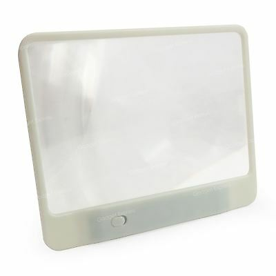 New Handheld White Magnifier 3 LED Light Book Magazine Newspaper Map Reading Aid