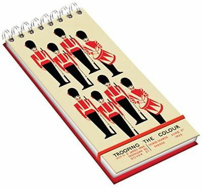 Trooping The Colour Wiro Lined Note Pad With Bellyband