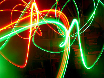 5x LED KEYCHAIN COLORS FOR LIGHT PAINTING PHOTOGRAPHY NEON EFFECT .