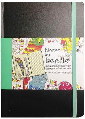 A5 Leatherette Doodle Book In Animal And Patterns