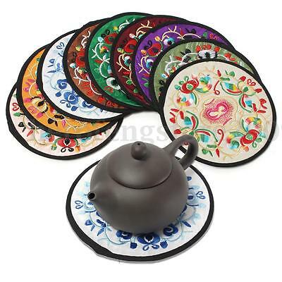 10Pcs Ethnic Coaster Tribal Cup Drinks Holder Mat Floral Tableware Placemat Pads