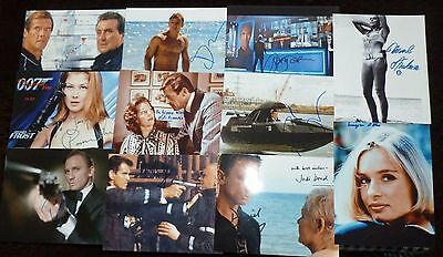 """10""""x8"""" PHOTOGRAPHS - LOT OF 40 - JAMES BOND with printed signatures"""