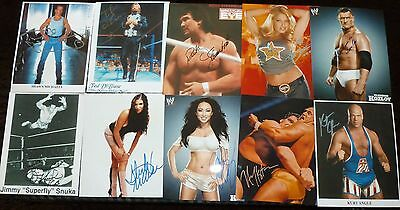 """10""""x8"""" PHOTOGRAPHS - LOT OF 22 - WRESTLING (+MMA) with printed signatures - A"""