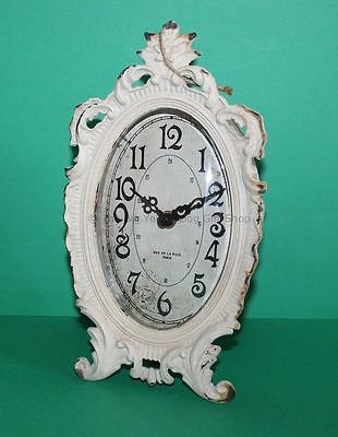 New Shabby Sass & Belle Distressed French Chic Cream Old Romance Oval Clock