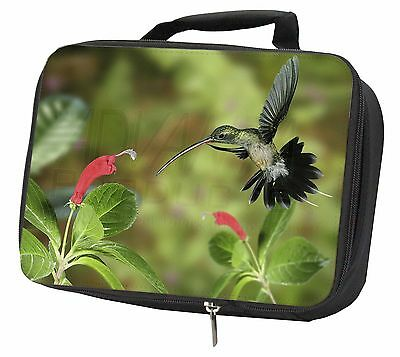Green Hermit Humming Bird Black Insulated Lunch Box, AB-95LBB