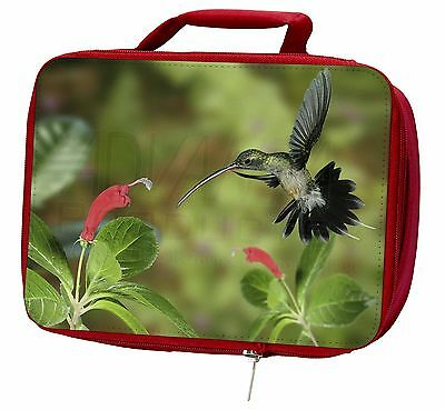 Green Hermit Humming Bird Insulated Red Lunch Box, AB-95LBR