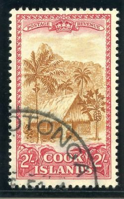 Cook Islands 1949 KGVI 2s yellow-brown & carmine very fine used. SG 158. Sc 139.