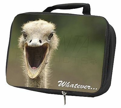 Ostritch with 'Whatever' Black Insulated Lunch Box, AB-OS2LBB