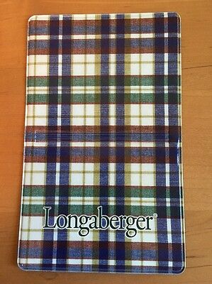 Longaberger Woven Traditions Plaid Vinyl Business Card / Credit Card Holder