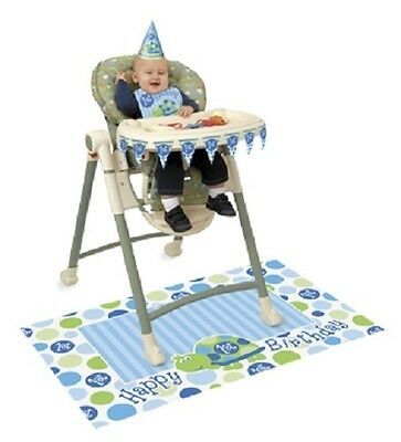 First (1st) Birthday (Boy) TURTLE HIGH CHAIR DECORATING KIT (Party/Decoration)