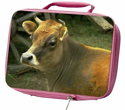 Red Cow Insulated Pink School Lunch Box Bag, ACO-1LBP