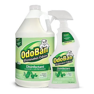 OdoBan Odor Eliminator Eucalyptus Gallon Concentrate Refill & 32 oz Spray