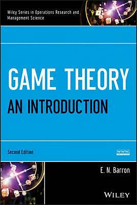 Game Theory: An Introduction by E.N. Barron (English) Hardcover Book Free Shippi