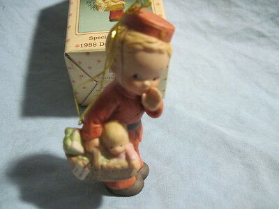 1988 ENESCO SPECIAL DELIVERY Ornament MEMORIES OF YESTERDAY Baby's 1st Christmas
