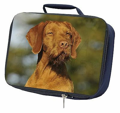 Hungarian Vizsla Wirehaired Dog Navy Insulated Lunch Box, AD-HWV1LBN