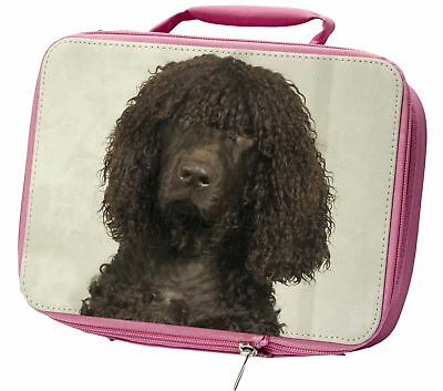 Irish Water Spaniel Dog Insulated Pink Lunch Box, AD-IWSLBP