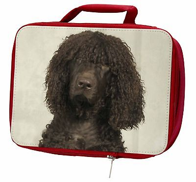 Irish Water Spaniel Dog Insulated Red Lunch Box, AD-IWSLBR