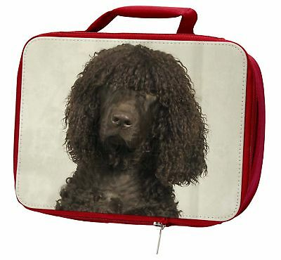 Irish Water Spaniel Dog Insulated Red School Lunch Box/Picnic Bag, AD-IWSLBR