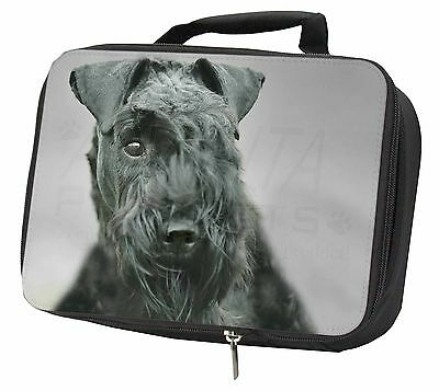 Kerry Blue Terrier Dog Black Insulated Lunch Box, AD-KB1LBB