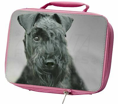 Kerry Blue Terrier Dog Insulated Pink Lunch Box, AD-KB1LBP