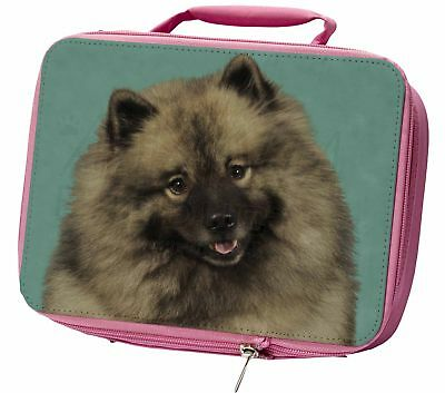Keeshond Dog Insulated Pink School Lunch Box Bag, AD-KEE1LBP