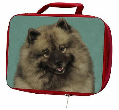 Keeshond Dog Insulated Red Lunch Box, AD-KEE1LBR