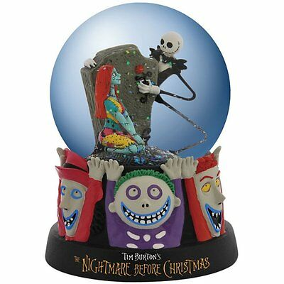 Nightmare Before Christmas Celebrating Our Love Halloween Snowglobe #25205