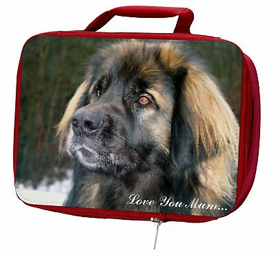 Black Leonberger 'Love You Mum' Insulated Red Lunch Box, AD-L56lymLBR
