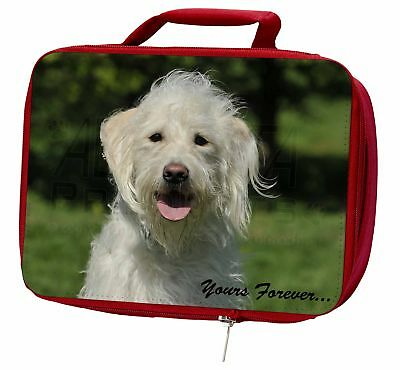 White Labradoodle 'Yours Forever' Insulated Red Lunch Box, AD-LD3yLBR