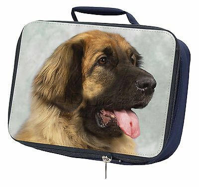 Blonde Leonberger Dog Navy Insulated Lunch Box, AD-LE1LBN