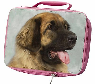 Blonde Leonberger Dog Insulated Pink Lunch Box, AD-LE1LBP