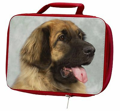 Blonde Leonberger Dog Insulated Red Lunch Box, AD-LE1LBR