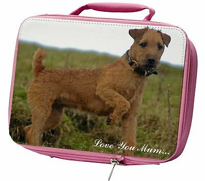 Lakeland Terrier 'Love You Mum' Insulated Pink Lunch Box, AD-LT1lymLBP